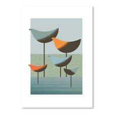 Visual Philosophy Wading Birds Graphic Art