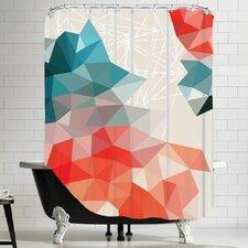 Urban Road Geometric Shower Curtain