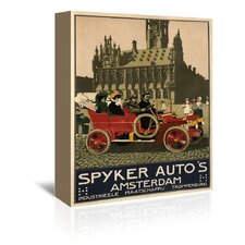 Spyker Auto Dutch 1910 Vintage Advertisement on Wrapped Canvas