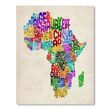 Africa Word Map Wall Mural