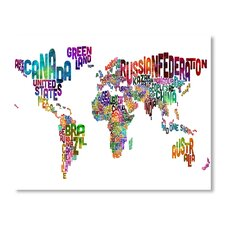 World Map Word Wall Mural