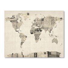 World Map Alphabets Wall Mural