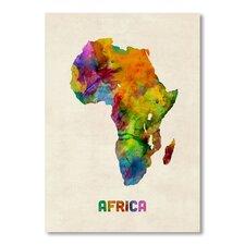 Africa Map Wall Mural