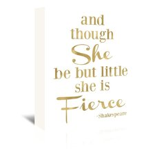 Fierce Shakespeare by Amy Brinkman Textual Art on Wrapped Canvas