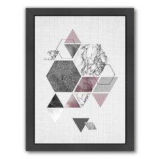 Geometric Hexagons by LILA + LOLA Framed Graphic Art