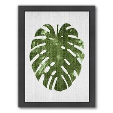 Tropical Leaf 1 by LILA + LOLA Framed Graphic Art