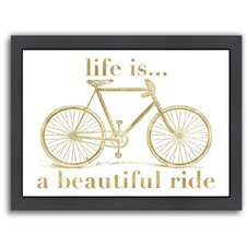 Bicycle Life is Beautiful Ride by Amy Brinkman Framed Graphic Art