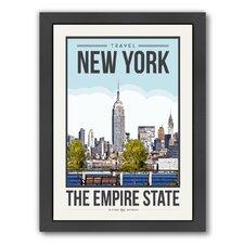 Travel Poster New York City Framed by Brooke Witt Graphic Art