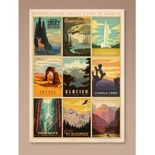 National Park Multi 1 Framed Vintage Advertisement