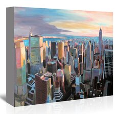 NYC Sunlight2' by M Bleichner Original Painting on Wrapped Canvas