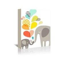Elephants Graphic Art on Canvas