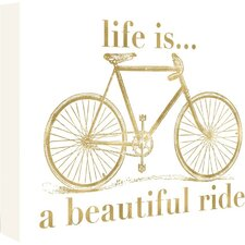 Bicycle Life is Beautiful Ride by Amy Brinkman Graphic Art on Wrapped Canvas