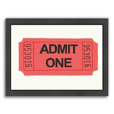 'Ticket' by Jorey Hurley Framed Graphic Art