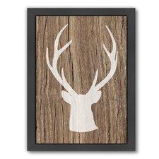 Deer 5 by Ikonolexi Framed Graphic Art in Brown