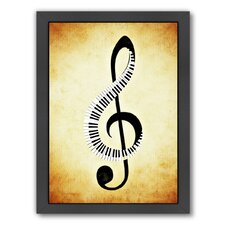 'Clef Music Musically' Framed Graphic Art