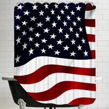 US America Flag Shower Curtain
