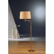 2 Light Swing Arm Floor Lamp