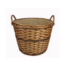 Log Basket with Lining