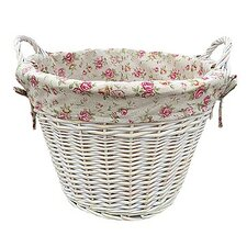 Log Basket with Garden Rose Lining