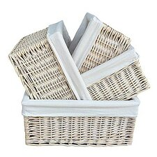 4 Piece Storage Baskets Set