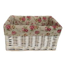 Garden Rose Lined Storage Basket