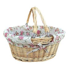 Swing Handle Shopper Basket with Rose Lining