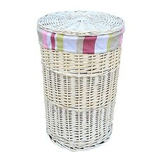 Laundry Hamper with Striped Lining