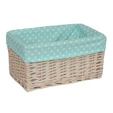 Storage Basket with Spotty Lining