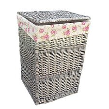 Laundry Basket with Garden Rose Lining
