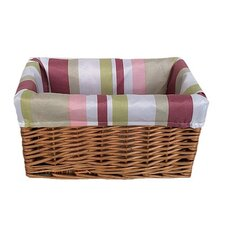 Storage Basket with Stripe Lining