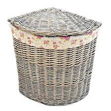 Corner Hamper with Garden Rose Lining