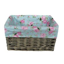 Storage Basket with Cottage Rose Lining