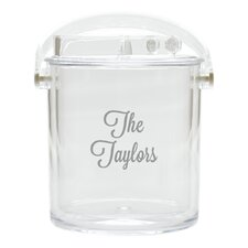 Personalized Insulated Acrylic Ice Bucket with Tongs