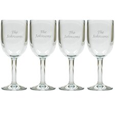 Personalized 14 Oz. All Purpose Wine Glass (Set of 4)