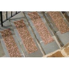 Aqua Shield Medium Brown Fall Day Stair Tread (Set of 4)