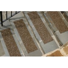 Aqua Shield Dark Brown Fall Day Stair Tread (Set of 4)