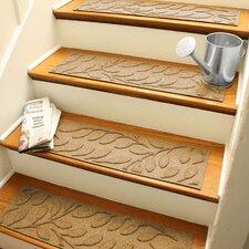 Aqua Shield Gold Brittany Leaf Stair Tread (Set of 4)