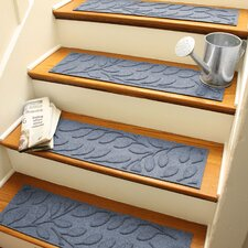Aqua Shield Bluestone Brittany Leaf Stair Tread (Set of 4)