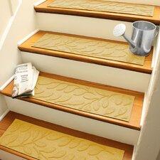 Aqua Shield Yellow Brittany Leaf Stair Tread (Set of 4)