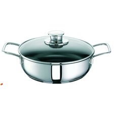 Green Life Stainless Steel Saute Pan with Glass Lid