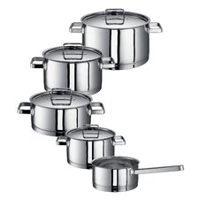 Chiara 5-Piece Stainless Steel Cookware Set