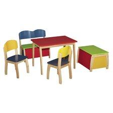5-tlg. Kinder Tischset mit Stühlen