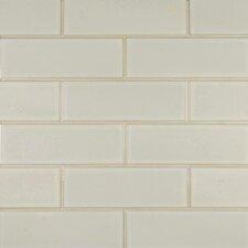 """4"""" x 12"""" Glazed Ceramic Tile in Antique White"""