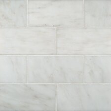"3"" x 6"" Marble Tile in Greecian White"