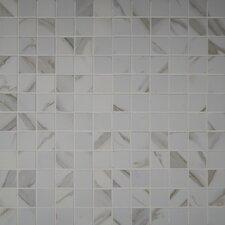 "Pietra Calacatta 2"" x 2"" Porcelain Mosaic Tile in White"