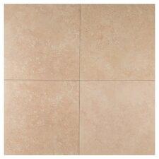 """Travertino 12"""" x 12"""" Porcelain Field Tile in Beige"""
