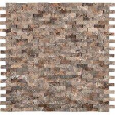 Emperador 12'' x 12'' Marble Splitface Tile in Brown