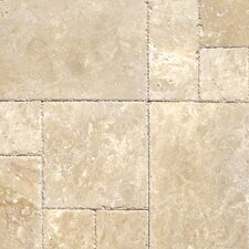 Tuscany Beige Travertine Field Tile in Honed, Unfilled and Chipped Beige