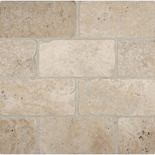 "Tuscany Classic 3"" x 6"" Travertine Subway Tile in Tumbled Beige"