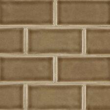 """3"""" x 6"""" Ceramic Subway Tile in Artisan Taupe (Set of 8)"""